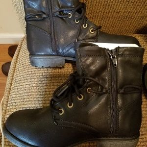 Girls black boots by Sonoma